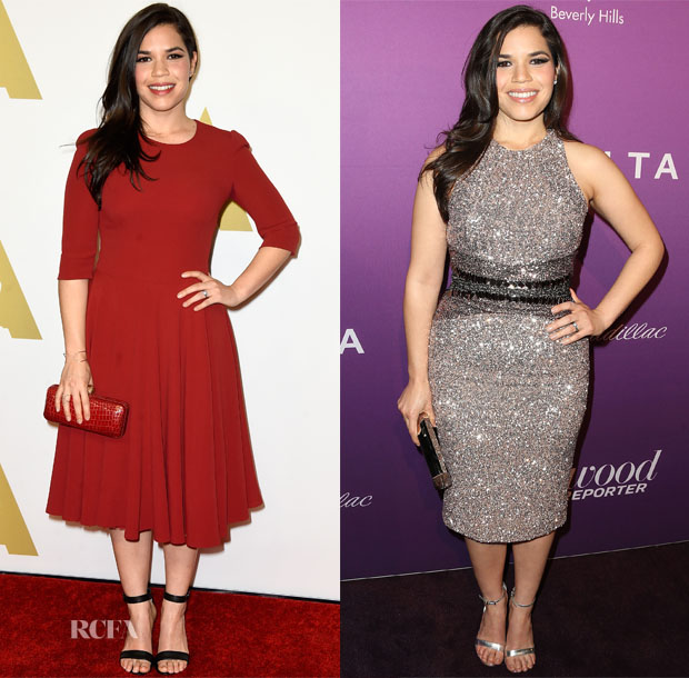 America Ferrera In Pamella Roland - Academy Awards Nominee Luncheon & Hollywood Reporter's Oscar Nominees Night Party