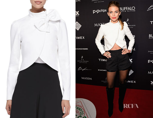 AnnaLynne McCord's Alice + Olivia Bow-Neck Jacket