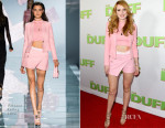 Bella Thorne In Versace - 'The Duff' LA Premiere