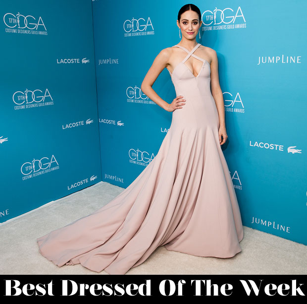 Best Dressed Of The Week - Emmy Rossum In Donna Karan Atelier