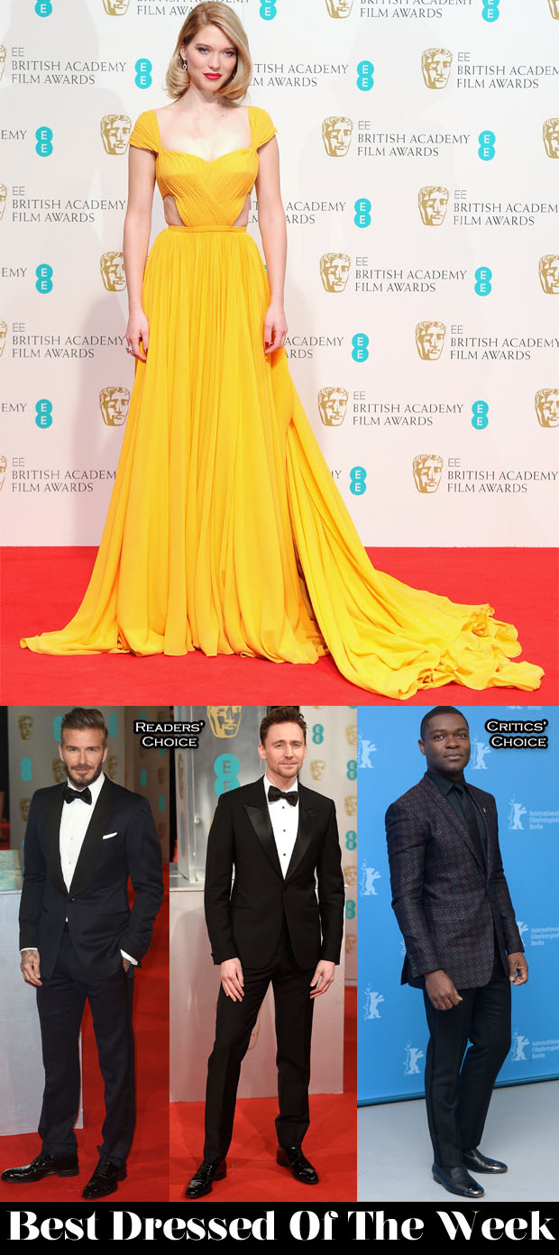 Best Dressed This Week - Lea Seydoux In Prada, Tom Hiddleston In Alexander McQueen, David Beckham & David Oyelowo