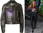Beyonce Knowles Acne Studios Saxe Leather Biker Jacket
