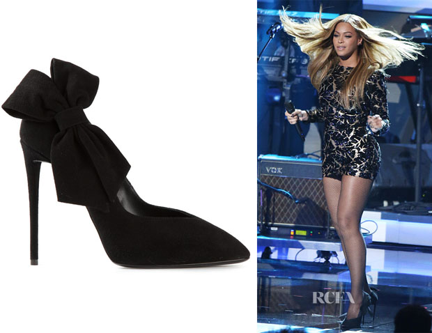 Beyonce Knowles Giuseppe Zanotti Bow Detail Pumps Red