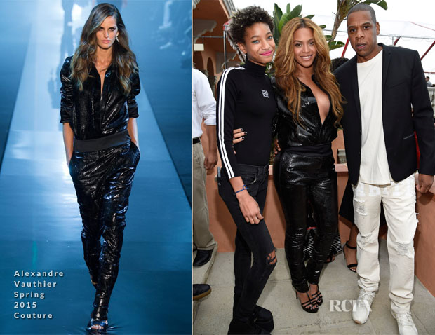 Beyonce Knowles In Alexandre Vauthier Couture - Roc Nation Pre-GRAMMY Brunch