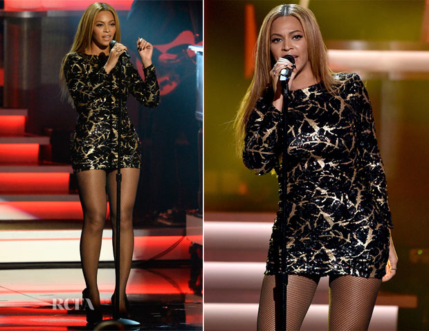 Beyonce Knowles In Michael Costello - Stevie Wonder 'Songs In The Key Of Life' An All-Star GRAMMY Salute