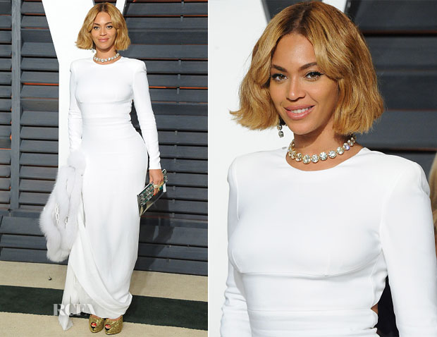 Beyonce Knowles In Stella McCartney - 2015 Vanity Fair Party