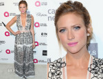 Brittany Snow In Blumarine - Elton John's AIDS Foundation's Oscar Viewing Party