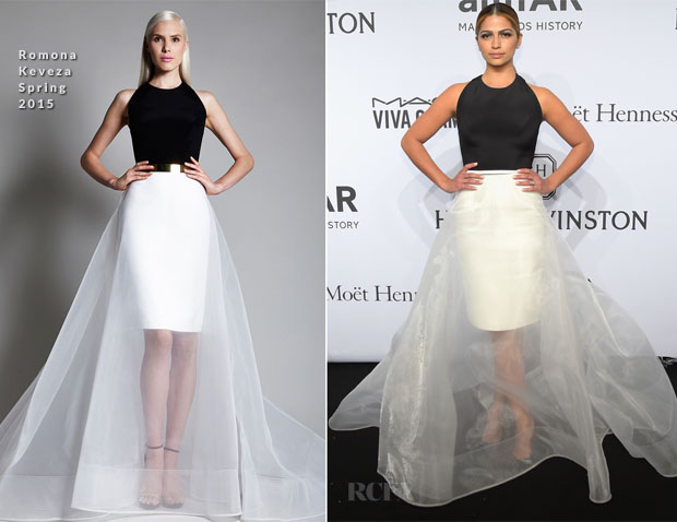 Camila Alves In Romona Keveza - 2015 amfAR New York Gala