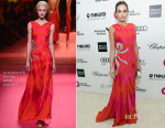 Camilla Belle In Schiaparelli Couture - Elton John's AIDS Foundation's Oscar Viewing Party
