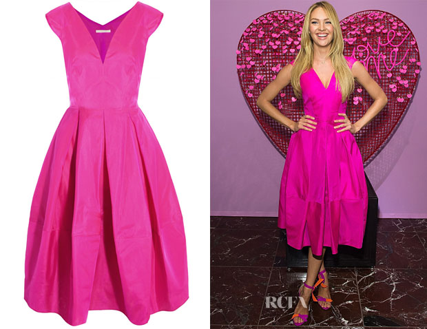 Candice Swanepoel's Antonio Berardi Silk-Organza Dress