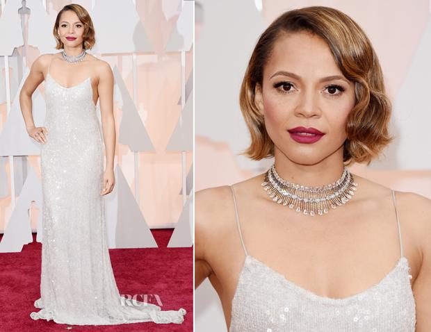 Carmen Ejogo In Houghton - 2015 Oscars