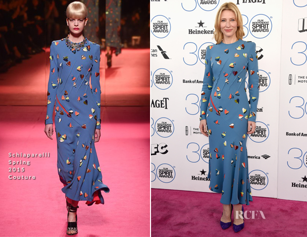 Cate Blanchett In Schiaparelli Couture - 2015 Film Independent Spirit Awards