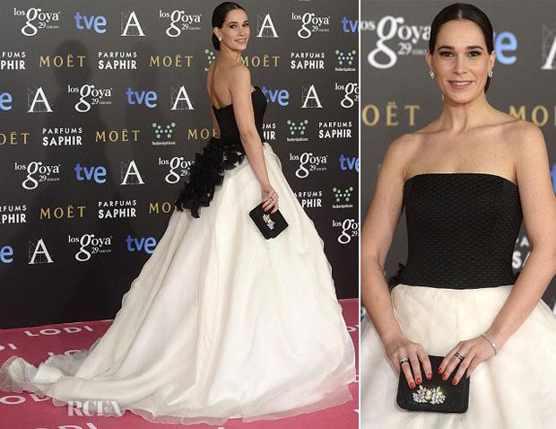 Celia Freijeiro In Vera Wang - 2015 Goya Awards