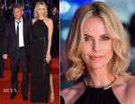 Charlize Theron In Halston Heritage - 'The Gunman' World Premiere