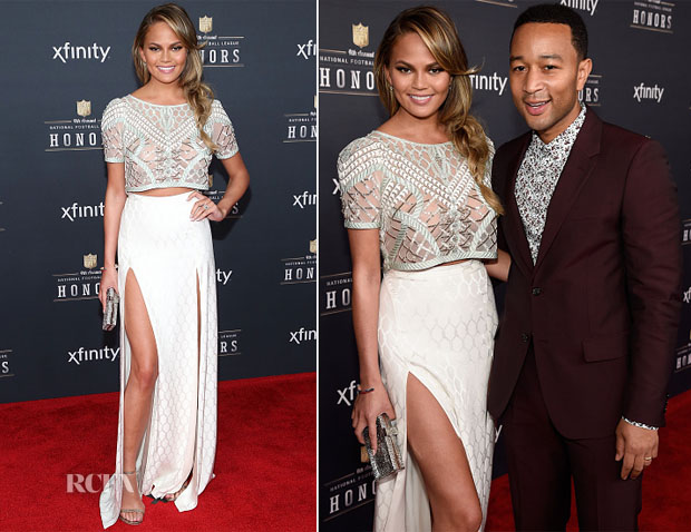 Chrissy Teigen In  Temperley London S15 - 2015 NFL Honors