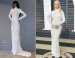 Christina Aguilera In Marc Bouwer - 2015 Vanity Fair Oscar Party