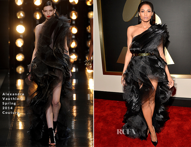 Ciara In Alexandre Vauthier Couture - 2015 Grammy Awards