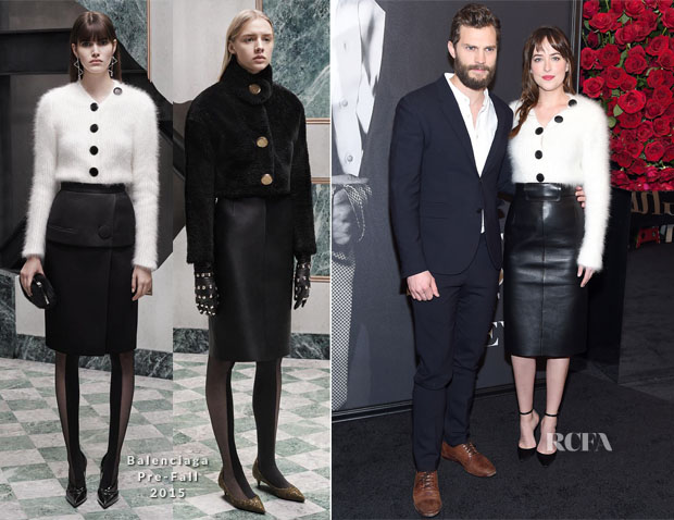 Dakota Johnson In Balenciaga - 'Fifty Shades Of Grey' New York Fan Screening