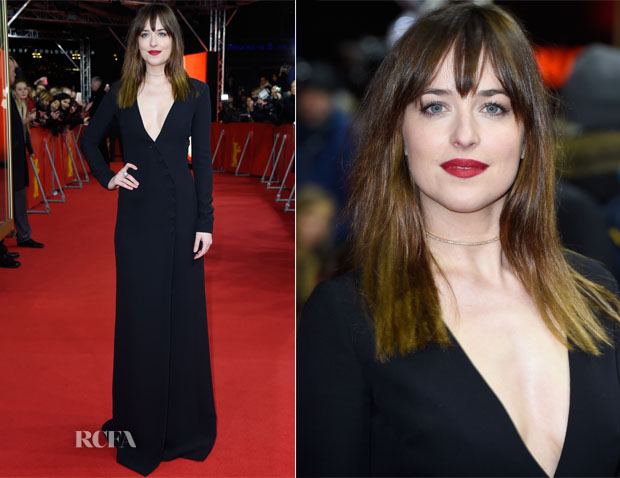 Dakota Johnson In Christian Dior - 'Fifty Shades of Grey' Berlin Film Festival Premiere