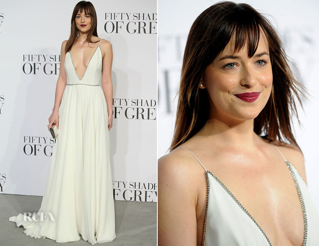 Dakota Johnson In Saint Laurent - 'Fifty Shades Of Grey' London Premiere