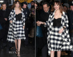 Dakota Johnson In Oscar de la Renta - Late Show With David Letterman