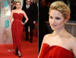 Dianna Agron In Lanvin - 2015 BAFTAs