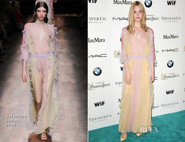Elle Fanning In Valentino - 8th Annual Women In Film Pre-Oscar Cocktail Party