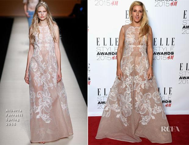 Ellie Goulding In Alberta Ferretti - 2015 Elle Style Awards