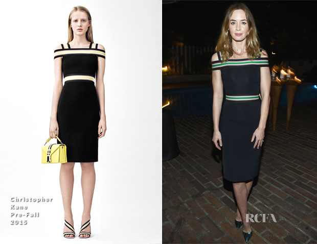 Emily Blunt In Christopher Kane - Vanity Fair and Barneys New York Dinner benefiting OXFAM