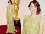 Emma Stone In Elie Saab Couture - 2015 Oscars