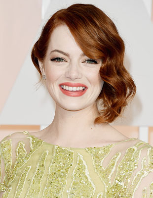 Get The Look: Emma Stone's Coral Spring Oscars Beauty Look