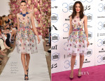Emmy Rossum In Oscar de la Renta - 2015 Film Independent Spirit Awards