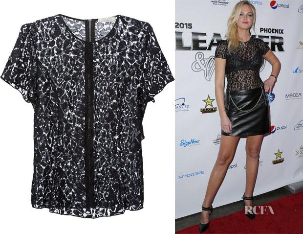 Erin Heatherton's Nina Ricci Leopard Lace Top