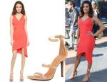 Eva Longoria's Three Floor Some Like It Hot Dress & Tamara Mellon Napa Triple-Band Sandals