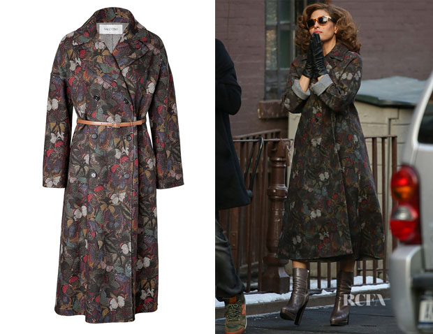 Eva Mendes' Valentino Butterfly Print Coat