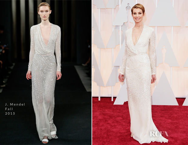 Faith Hill In J. Mendel - 2015 Oscars