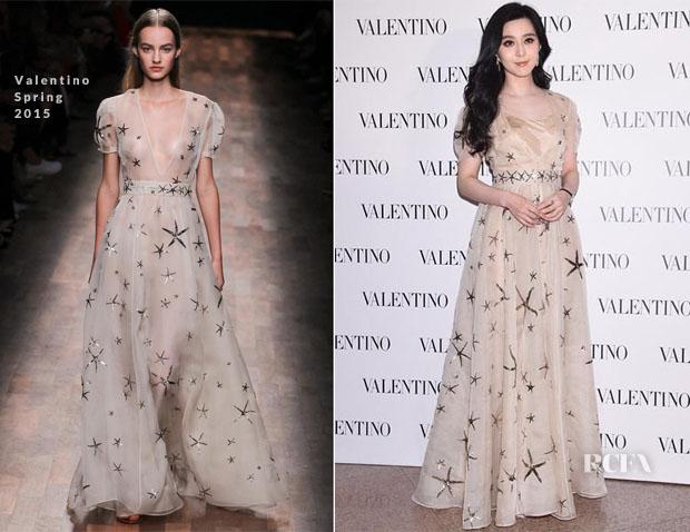 Fan Bingbing In Valentino - Valentino Hong Kong Opening
