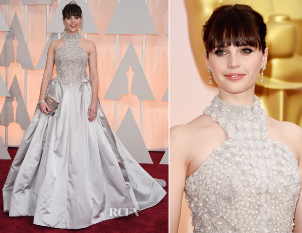 Felicity Jones In Alexander McQueen - 2015 Oscars