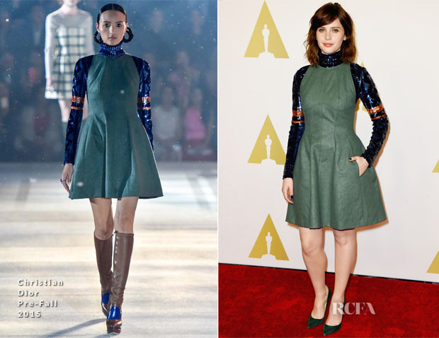 Felicity Jones In Christian Dior - 87th Academy Awards Nominee Luncheon