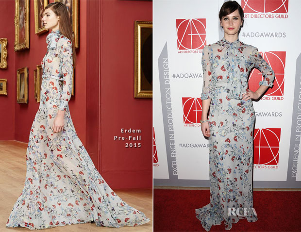 Felicity Jones In Erdem - 19th Annual Art Directors Guild Excellence In Production Design Awards