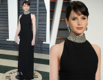 Felicity Jones In Saint Laurent - 2015 Vanity Fair Party