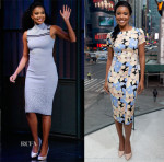 Gabrielle Union In Suno - 'Late Night with Seth Meyers' & 'Extra