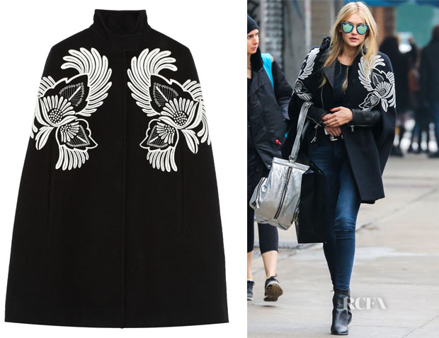 Gigi Hadid's Stella McCartney Floral-embroidered wool cape