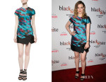 Gillian Jacobs' J. Mendel Short-Sleeve Panel-Skirt Dress