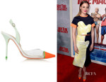 Gillian Jacobs' Sophia Webster Daria Patent-Leather and PVC Pumps