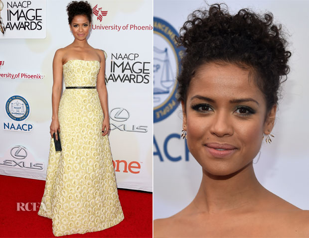 Gugu Mbatha-Raw In Burberry - 2015 NAACP Image Awards