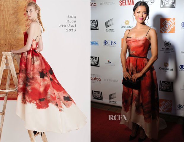 Gugu Mbatha-Raw In Lela Rose - 6th Annual AAFCA Awards