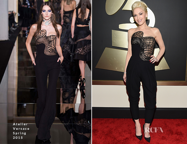 Gwen Stefani In Atelier Versace - 2015 Grammy Awards
