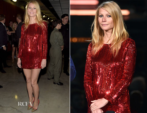 Gwyneth Paltrow In Saint Laurent - 2015 Grammy Awards