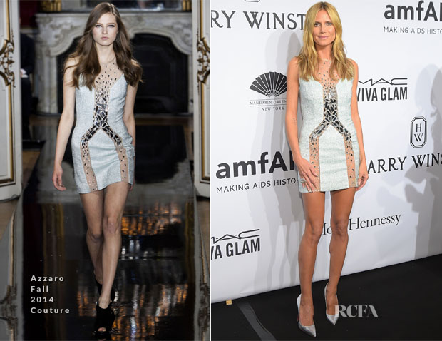 Heidi Klum In Azzaro - 2015 amfAR New York Gala
